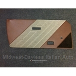 Door Panel Left (Bertone X1/9 1983-86) Brown / Tan - OE NOS