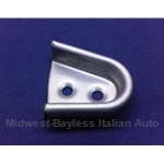 Door Alignment Wedge Receiver Right STAINLESS (Fiat 124 Spider All) - OE