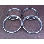 "Beauty Ring SET 4x - ALL METAL for 13"" Wheels (Fiat 124, 131, 128, 131) - U8"