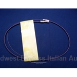 Hood Release Cable - Complete (Fiat 124 Sedan Wagon) - NEW