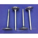 Intake Valve SET of 4 - All DOHC 42mm (Fiat 124, 131, Lancia All) - NEW