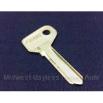 Key Blank - Door/Trunk 3-Series (Fiat X1/9 1985-88, 124 Cpe/Sedan, 131, 128) - OE NOS