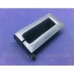 Seat Belt Guide Trim Rear Right Black (Fiat Pininfarina 124 Spider 1978-On) - OE NOS