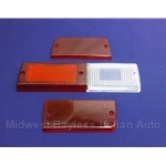 Tail Light Lens Set Left Siem (Fiat 131 Sedan 1975-76) - OE NOS