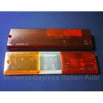 Tail Light Lens Set Left Siem (Fiat Brava Sedan 1978.5-82) - OE NOS