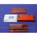 Tail Light Lens Set Right Siem (Fiat 131 Sedan 1975-76) - OE NOS