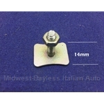 Bright Trim Retaining Post Clip 14mm (Fiat 124 Coupe, Fiat 128 Coupe, Fiat 850 Coupe) - OE NOS