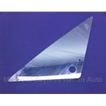 Wing Vent Window Glass Left - w/Thru Hole (Lancia Beta Coupe / Zagato / HPE 1979-82) - U8