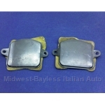 Air Conditioning Side Vent Block-Off Plate PAIR Left+Right (Fiat Bertone X1/9 All w/AC) - U8