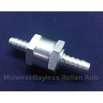 Check Valve for Fuel Supply 7mm (Fiat Lancia All Carbureted) - NEW ALUMINUM