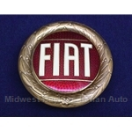 "Badge Emblem ""FIAT"" 58mm Bronze Enamel (Fiat X1/9, 124, 850, 128, 131) - NEW"