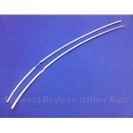 Door Edge Protector Stainless Trim SET (Fiat 131 2-Door All) - OE NOS