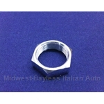 Windshield Wiper Post Bezel Nut Chrome (Fiat 124 Spider, 850 Spider, Lancia Scorpion) - OE NOS