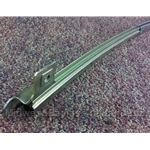 Wing Window Quarter Window Channel Right - Stainless (Fiat Bertone X1/9 1973-85) - OE NOS