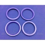 Hub-Centric Centering Ring SET of 4x (adapts 72.0mm --> 58.1mm) - NEW