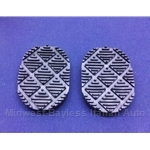 Brake / Clutch Pedal Pad PAIR 2x (Lancia Beta Coupe HPE Zagato All) - NEW