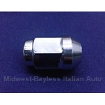 "Lug Nut - Closed End ""Acorn Style"" Chrome 19mm 12x1.5 (Fiat 600, 850) - NEW"
