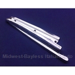 Convertible Top Chrome B-Pillar Body Seal Trim Left (Fiat 850 Spider All) - U8