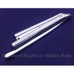Convertible Top Chrome B-Pillar Body Seal Trim Right (Fiat 850 Spider All) - U8