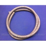 "Brake Fluid Clutch Fluid Hose from Reservoir - 5mm Braided - 48"" (Fiat 124 Spider, 128, X19, 850, Lancia) - OE NOS"