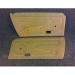 Door Panel Pair (Fiat X1/9 1979-82) Beige / Orange-Tan - U8