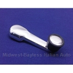 Window Crank Handle Silver (Lancia Scorpion Montecarlo) - NEW