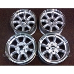 "Alloy Wheels SET 4x ""PANASPORT"" 16x7 (Fiat 124, 131, Lancia Beta) - NEW"