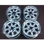 "Alloy Wheels SET 4x ""PANASPORT"" 15x6 (Fiat X19, 124, 131, 128, Lancia) - NEW"