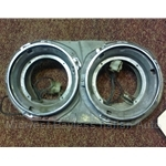 Headlight Bucket Assembly Dual Lamp Right (Lancia Beta Coupe Zagato 1981-On) - U8