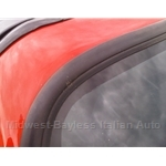 Rubber Windshield Glass Outer Edging / Trim - BLACK RUBBER (Fiat Bertone X19, 128, Lancia) - NEW