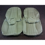 Seat Cover Upholstery - FRONT SET Tan/Beige (Fiat 124 Spider 1968-1978) - NEW