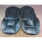 Seat Cover Upholstery - FRONT SET Black (Fiat Pininfarina 124 Spider 1979-85) - NEW