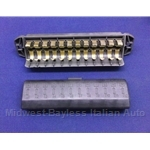 Fuse Block Box - 12 Fuse + Cover (Fiat 124 Spider 1978-82 + X1/9 1973-78) - U8