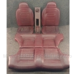 Seat SET Front + Rear - RED (Fiat 128 SL Coupe) - U8