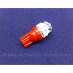 Light Bulb 12v / 5w - L.E.D. LED - 194 Red - Rear Marker Light (Fiat Lancia) - NEW