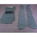 Carpet Pieces Black / Gray LOOP (Pininfarina 124 Spider 1983-85) - OE NOS
