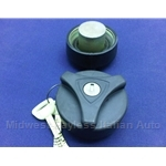 Fuel Filler Cap Locking w/Key Black (Lancia Scorpion Montecarlo) - OE