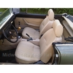 Seat Pair Front Tan/Beige (Fiat Pininfarina 124 Spider ALL) - NEW