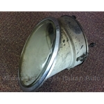 Covered Headlight Assembly with Clear Lens / Glass (Fiat 850 Spider 1965-67, Miura) - U8
