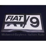 "Restoration Decal - Side Decal Pair BLACK - ""FIAT"" + ""X1/9"""