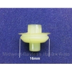 Side Molding Trim Retaining Clip - 16mm (Fiat 124 Coupe Side Rear, 128, 850) - OE NOS