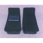 Floor Mat Pair Black Loop (Fiat Pininfarina 124 Spider All) - NEW