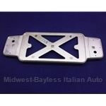 License Plate Frame Chrome Plastic (Fiat 850 Spider, 124 Coupe, 128) - U8