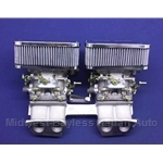Carburetor Pair Weber 40 Dual DCNF w/Intake Manifold Assembly (Fiat X1/9, 128) - NEW