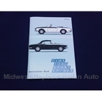 Owners Manual (Fiat 124 Spider 1968-69) - NEW