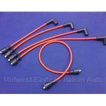 Spark Plug Wire Set SOHC - PREMIUM Red (Fiat X1/9, 128, Yugo) - NEW