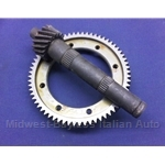 4-Spd Ring and Pinion SET 17/64 3.76 (Fiat X1/9, 128, Yugo) - OE NOS
