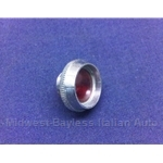 Dash Indicator Red w/Chrome Bezel - Bezel/Lens Only (Fiat 124, 128, 850) - U8