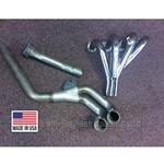 Exhaust Header Assy - Long Tube NICKEL Plated (Fiat Pininfarina 124 Spider 1980-85 + All w/Converter) - NEW