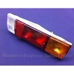 Tail Light Assembly - Right - Amber or Red (Fiat 124 Spider 1970, 1973-78) - NEW